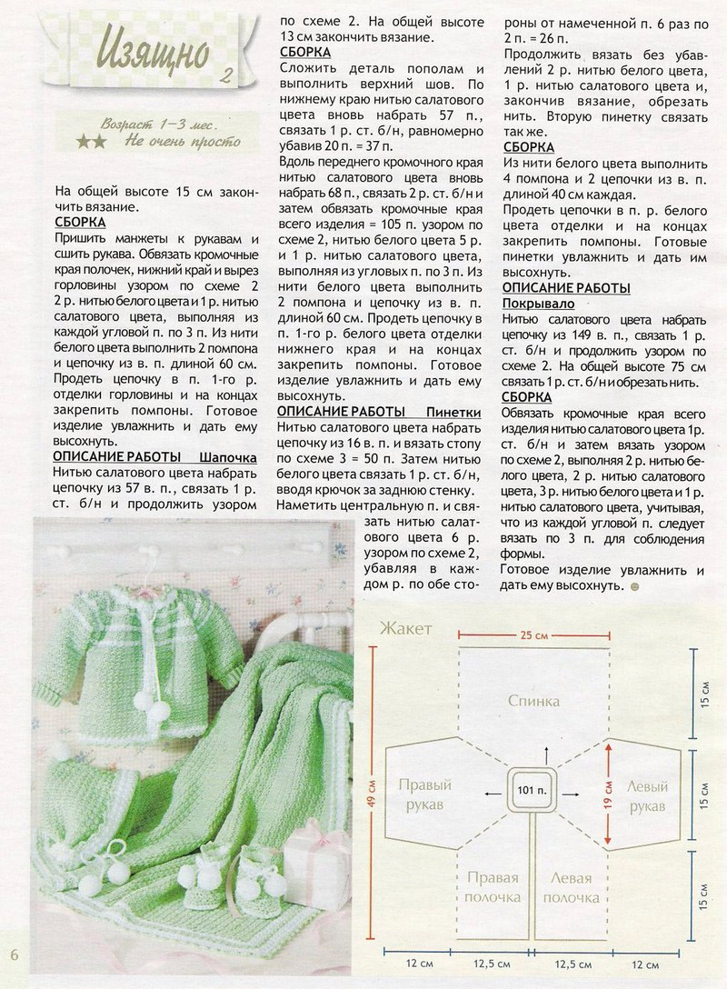 Вязание крючком схемы для новорожденных с