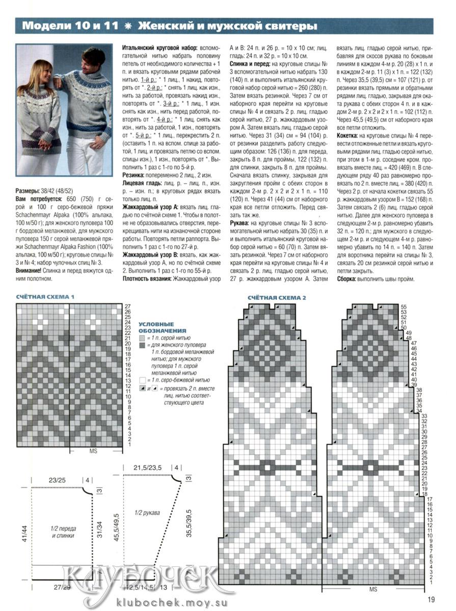 Узоры вязания женских джемперов